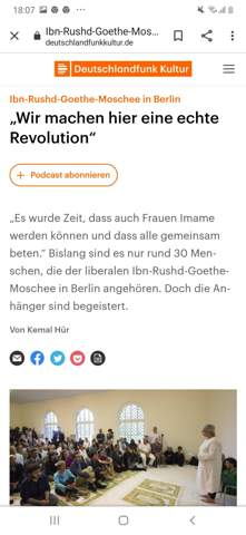 Was haltet ihr von der liberalen Moschee in Berlin? Die Ibn Rushd Goethe Moschee?