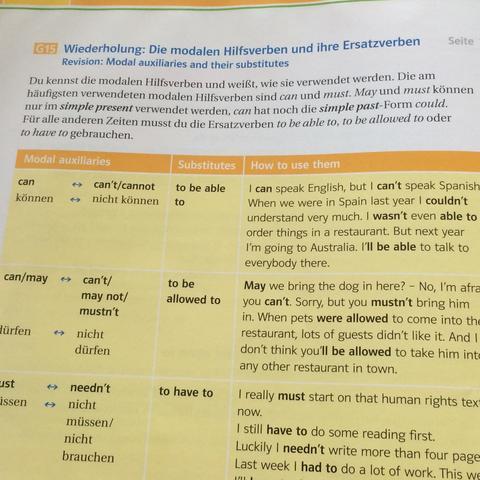 Der Text da oben  - (Englisch, Grammatik, Test)