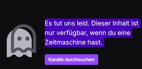 Was Heißt diese Meldung von Twitch?