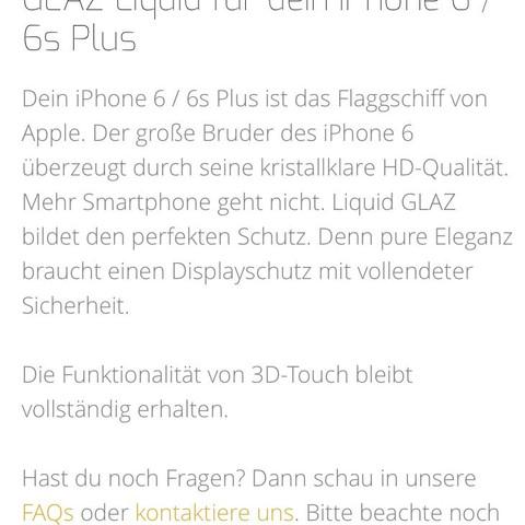 Website von Glaz liquid - (iPhone, Smartphone, gta)