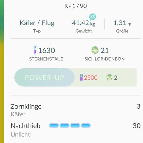 Mit den Werten - (Handy, Spiele, Pokemon)