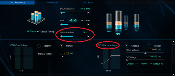Was ist CPU Cache Ratio & CPU Cache Voltage?