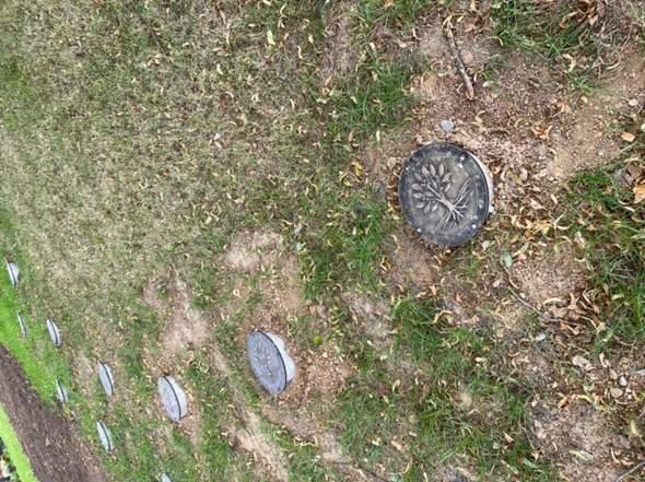 Was ist das auf dem Friedhof?