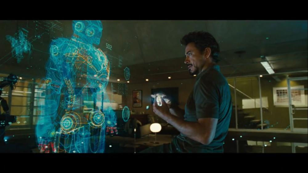 was ist das bei Iron Man 3D hologram oder sowas in der ... Iron Man Holographic Computer