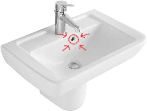 was ist das eig f r ein loch im waschbecken unter dem wasserhahn klempner. Black Bedroom Furniture Sets. Home Design Ideas