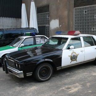Altes Amerikanisches Polizeiauto - (Auto, alt, amerikanisch)