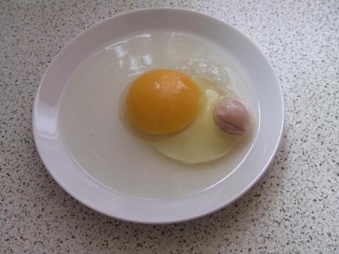 Ganzes Ei. - (essen, kochen, Eier)