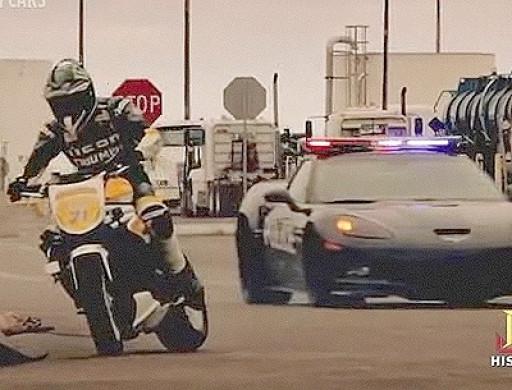 Bild 1 - (Auto, Polizei, Motorrad)