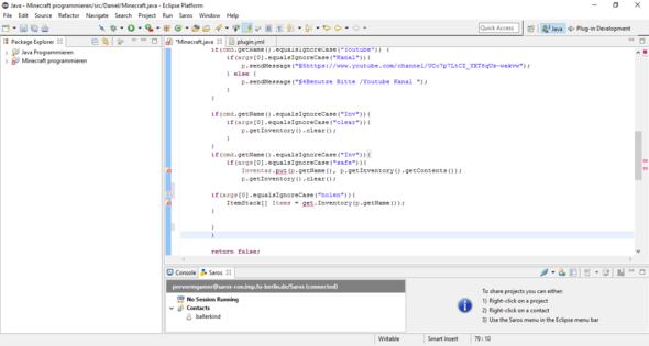 Gesamt Code - (Minecraft, programmieren, Fehler)