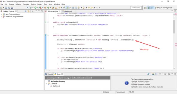 HashMap - (Minecraft, programmieren, Fehler)