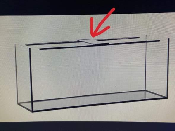 Was ist das für ein silbernes Teil auf dem Aquarium?