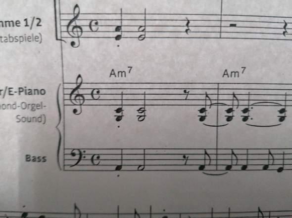 Was ist das für ein Ton unter c'?