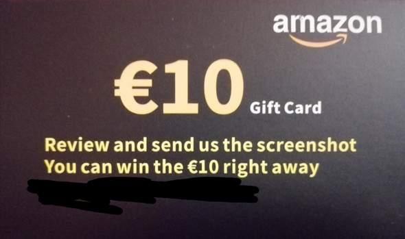 Was ist das für eine Amazon Geschenkkarte?