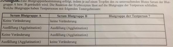 Blutgruppe A und B =? - (Biologie, blutgruppenbestimmung, MiniCoopa)