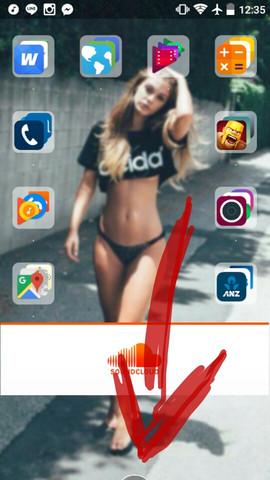 Der Kreisausschnitt - (Smartphone, Android, Bildschirm)