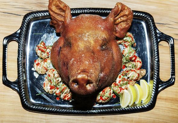 Nyc Restaurant Pig Head