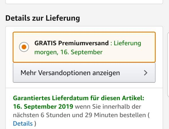Amazon Premiumversand