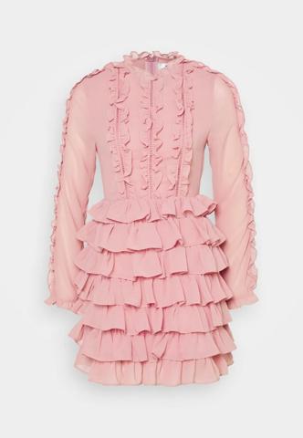 Was ist die Aussage dieses kurzen Kleides für Damen?