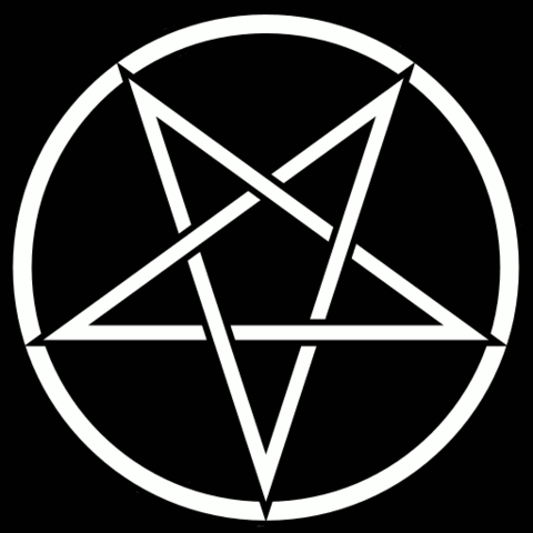 Umgedrehtes Pantagramm - (Metal, Gothic, Satanismus)