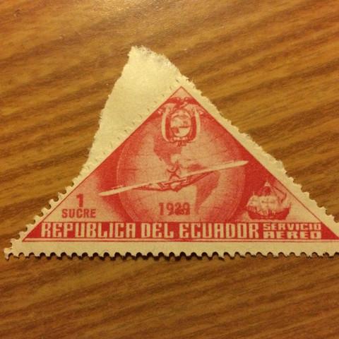 Briefmarke alle Kanten sind erhalten  - (Geld, Post, Brief)
