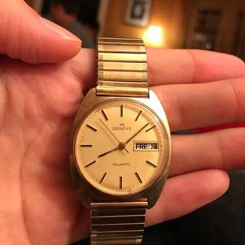 Uhr geneve quartz 1975 1980 - (Uhr, watch, Geneve quartz)