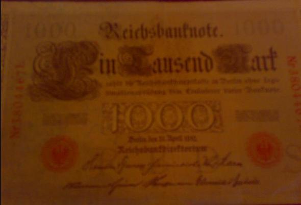 Das alte Mark - (Geld, Wert)