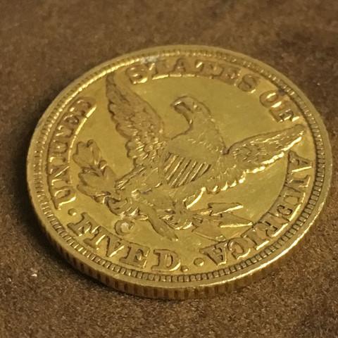 Was Ist Diese Goldmünze Wert Usa 5 Dollar Aus 1849 Geld Münze