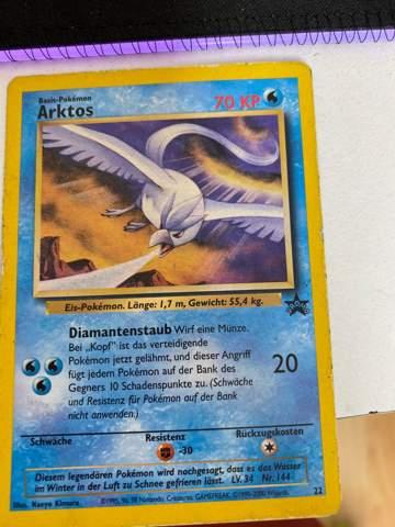 Was ist diese Pokemon Karte Wert? Arktos?