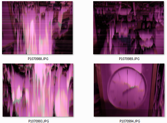 Was ist diesem Digitalkamera-Sensor passiert?
