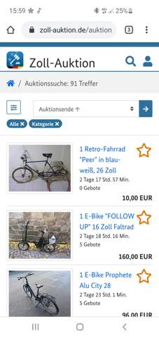 Was ist dieses Zoll Auktion?