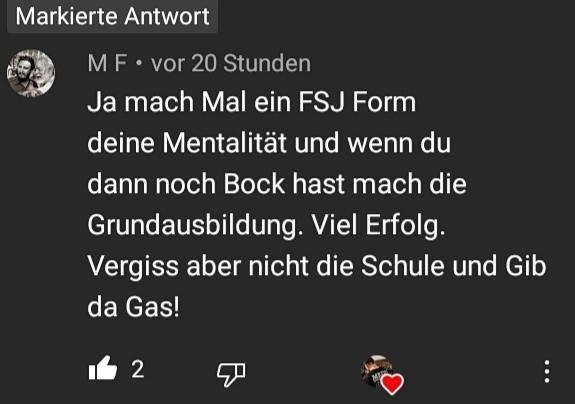 - (Bundeswehr, FSJ, Freiwilliges Soziales Jahr)