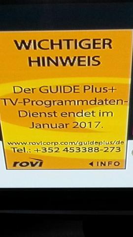 Was ist ein Guide Plus TV Programmdatendienst? Was kann ich tun?