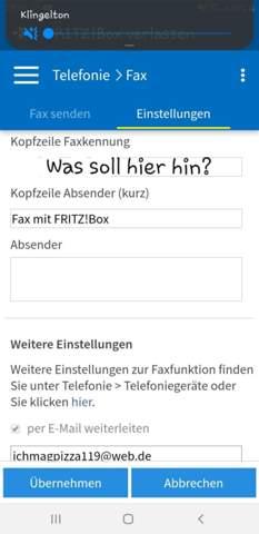 Was ist eine Faxkennung?
