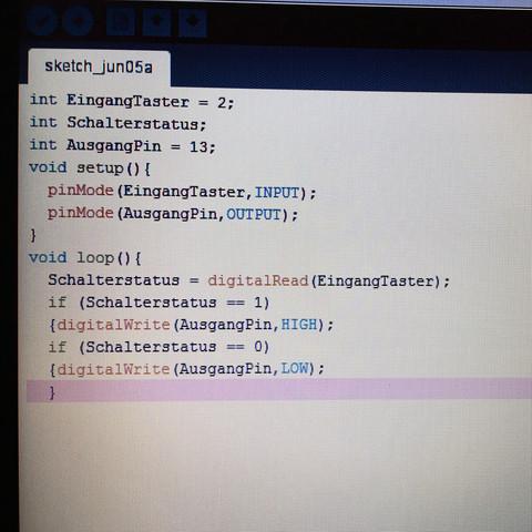 Hier der Code.. - (Fehlermeldung, arduino)