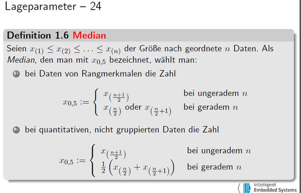 Median - (Mathe, Mathematik, Statistik)