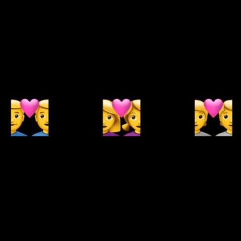 Was ist hiervon jeweils Mann und Frau (Emoji Whatsapp)?