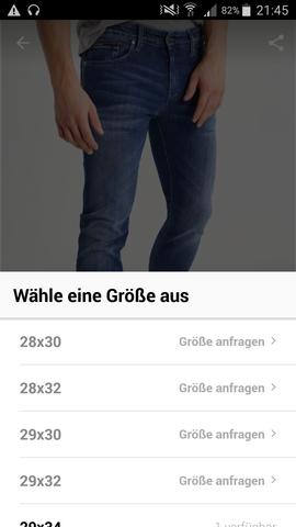 - (Jeans, Länge, Umfang)