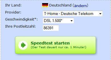 Was gehört in dieses Dropdown menü bei Geschwindigkeit - (DSL, Computerbild, Deutsche Telekom AG)