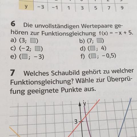 Nur Aufgabe 6! - (Schule, Mathe, Funktion)