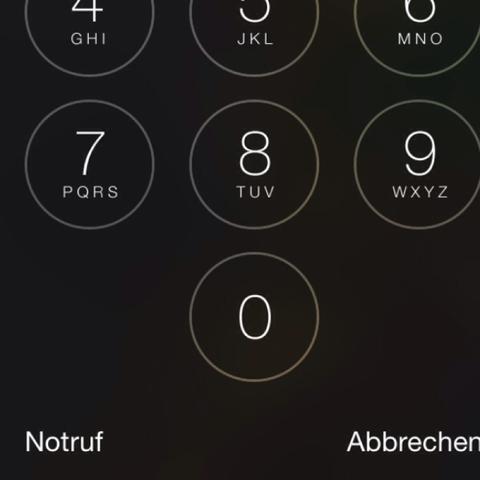 Unter der Null sind immer Vierecke eine habe reihe - (Technik, iPhone, Strom)