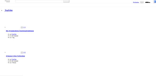 Hier ein screen - (Youtube, Bug)
