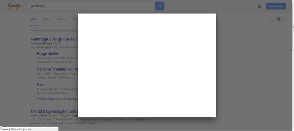 Googel spinnt, URL Umleitung, weißes Popup legt alles lahm! - (Computer, Internet, Software)