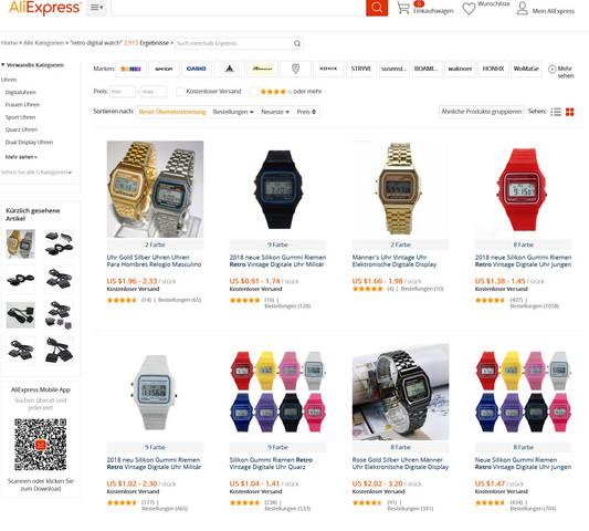Was ist von Uhren für 1-2€ bei Aliexpress zu halten?