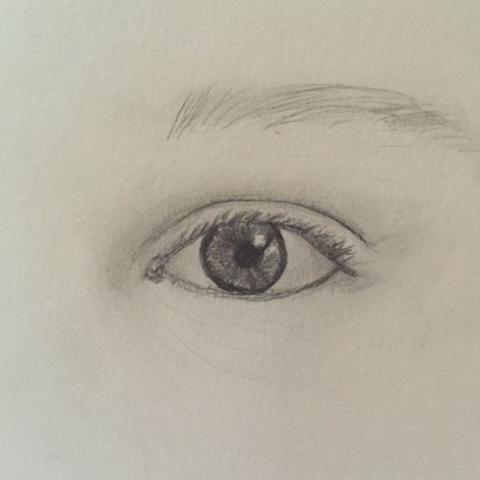gezeichnetes Auge  - (Tipps, zeichnen, malen)