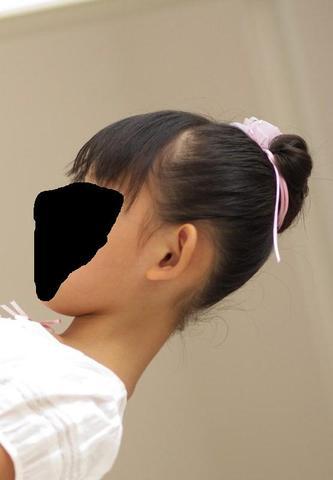 das stärker abstehende von der Seite - (Schule, Mädchen, Haare)