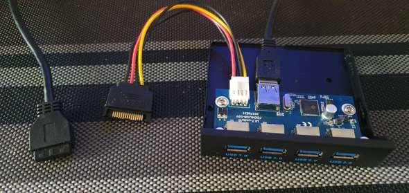 Was kann ich machen, wenn ich einen zweiten USB 3.0 Anschluß auf meinem Motherboard benötige.?