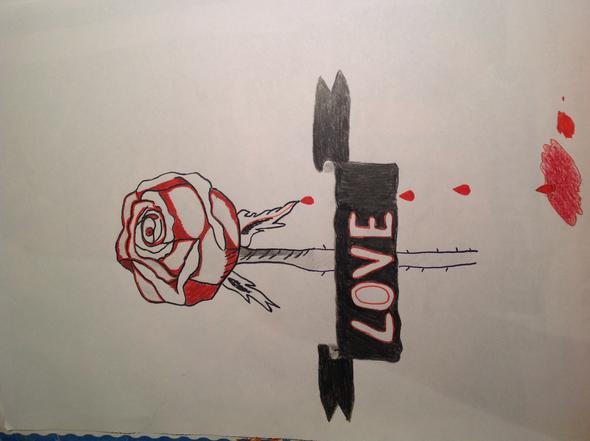 was kann ich noch zu meiner rose malen zeichnen. Black Bedroom Furniture Sets. Home Design Ideas