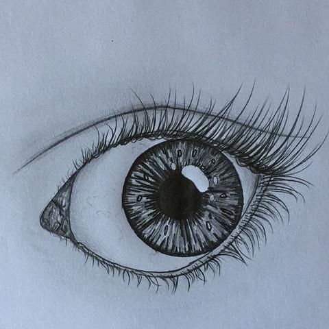 Das hier :) - (Mädchen, Augen, Kunst)