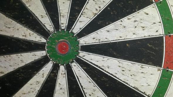 Ein Teil vom Board um den Bulls Eye - (Sport, Dart)