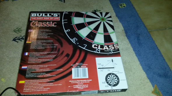 Verpackung des Dartboards (gekauft in Intersport) - (Sport, Dart)